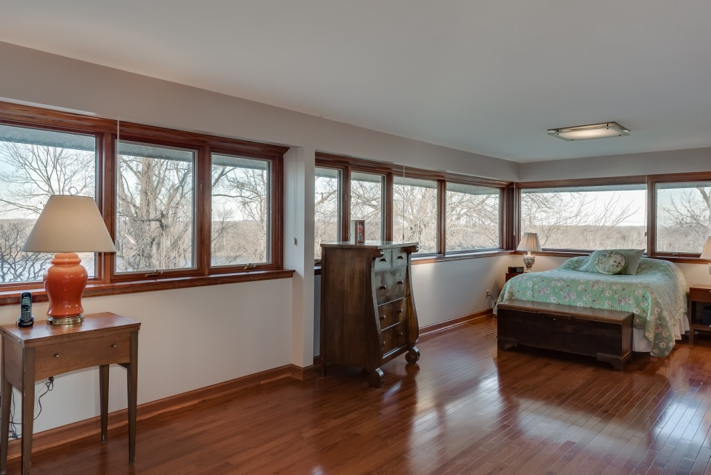 Photographs of a Harris Armstrong designed mid-century home on Jamestown Acres in Florissant, Missouri for Dielmann Sotheby's International Realty agent Ted Wight