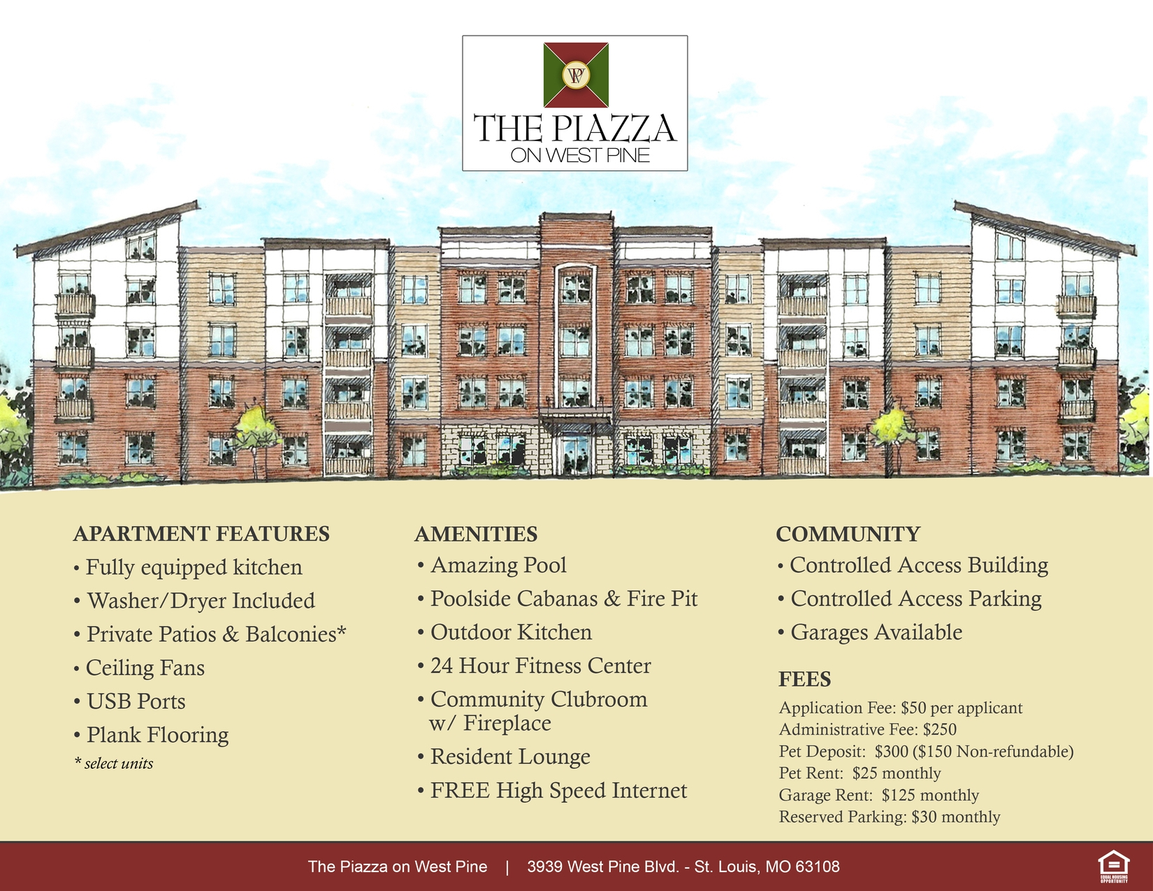 Piazza on West Pine - 1 Bdr