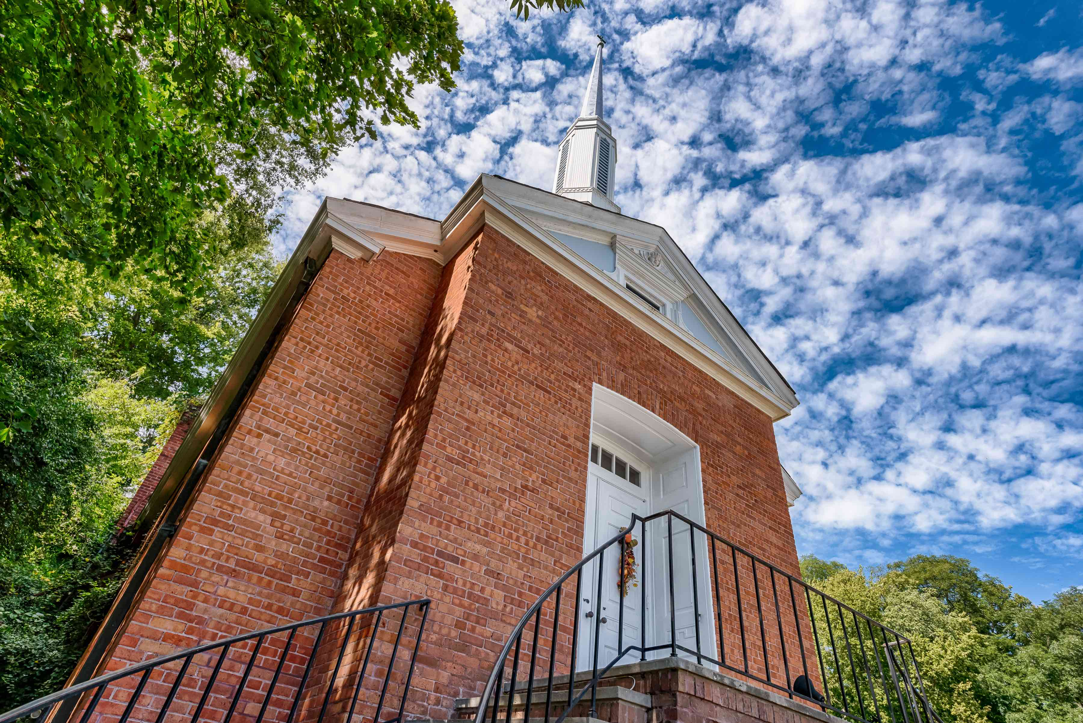 Photographs of a church converted into a residence in Clarksville, Missouri for Dielmann Sotheby's International Realty agent Ted Wight
