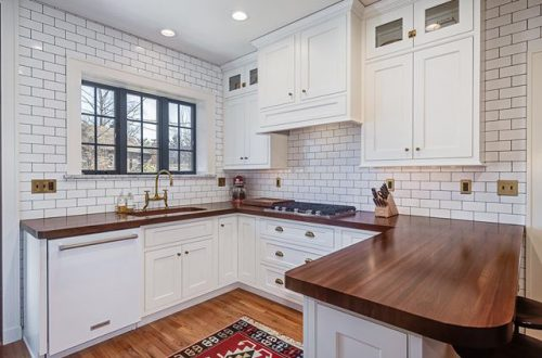 The kitchen at 4228 Roland has been completely renovated and now boasts KitchenAid appliances, wood countertops, and a handsome butler's pantry adjoining the kitchen to the dining room. Open Sunday from 1-3pm | Price Adjusted to $365,000 – from stlouis.style on Instagram