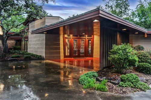 Updated Frank Lloyd Wright Home in Texas | 12020 Tall Oaks Street