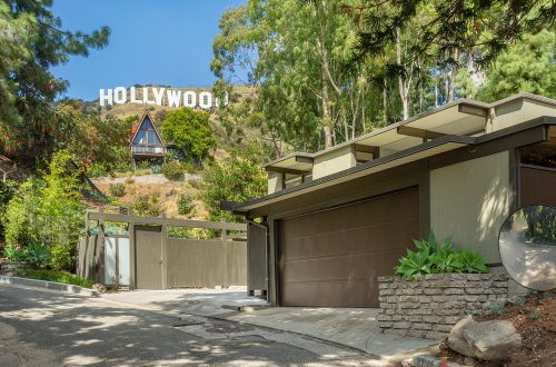 Midcentury Residence Under the Hollywood Sign Designed by Robert Malinoff Lists for $1.65M